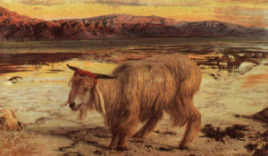 The Scapegoat by William Holman Hunt, 1854, provided courtesy of CGFA.